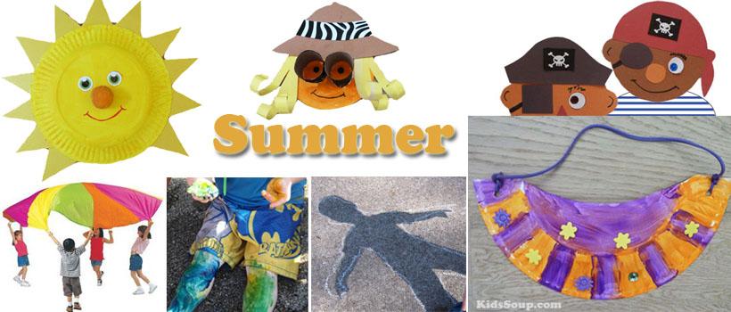 preschool and kindergarten summer activities and crafts
