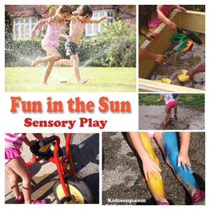 Preschool Summer Activities and Sensory Play