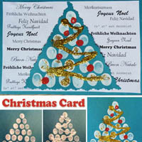 Preschool Kindergarten Christmas Card Craft