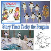 Tacky the Penguin Literacy Activities for preschool and kindergarten