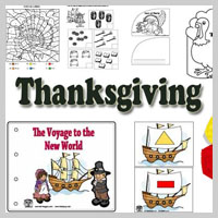 Preschool Kindergarten Thanksgiving Activities and Crafts