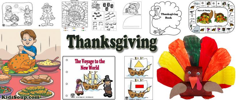 Preschool and kindergarten Thanksgiving activities and crafts