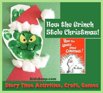The Grinch craft and activities for preschool and kindergarten