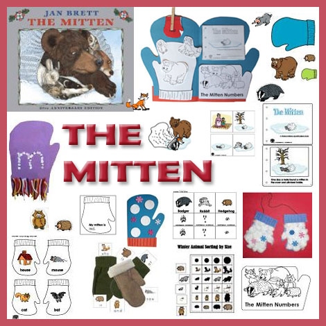 Preschool and Kindergarten The Mitten crafts, activities, printables