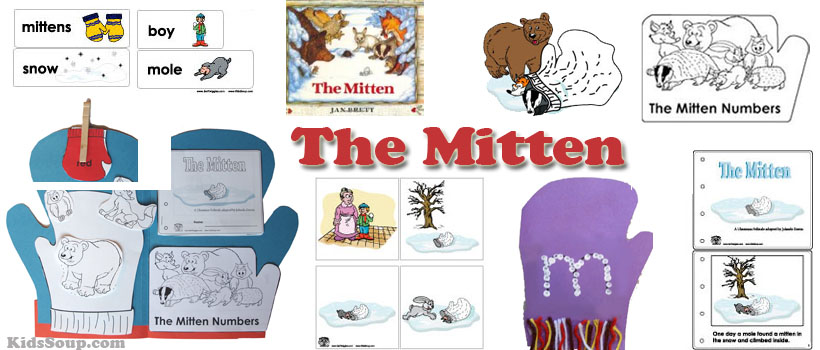 Preschool The Mitten Story Crafts, Activities, and Printables
