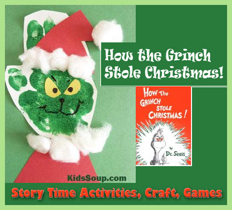 how the grinch stole christmas story time and craft - How The Grinch Stole Christmas Activities