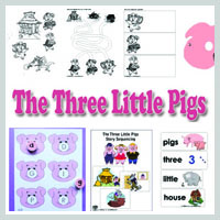 Preschool, Kindergarten, The Three Little Pigs Activities and Crafts