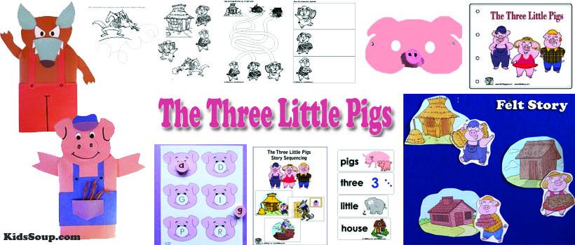 The Three Little Pigs Activities And Crafts For Preschool Kindergarten