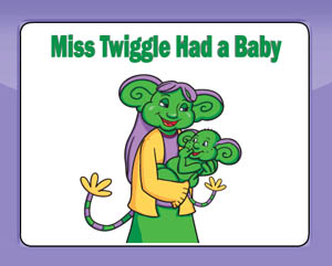 Miss Twiggles Story Book and Printables for preschool