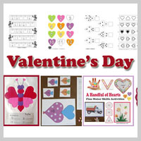 Preschool Kindergarten Valentine's Day Activities and Crafts