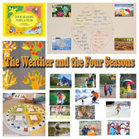 The Weather and the four seasons activities and lessons for preschool and kindergarten
