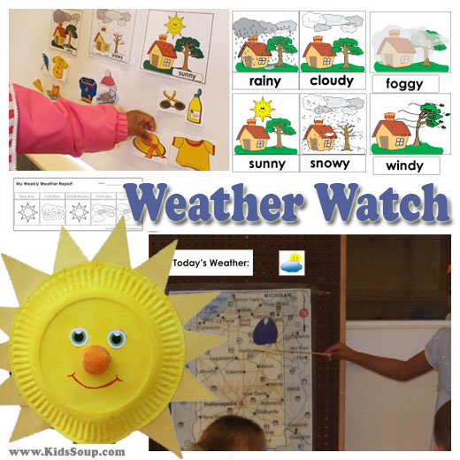Weather watch theme, activities, and lessons for preschool and kindergarten