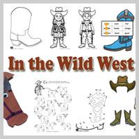 Preschool and kindergarten The Wild West activities and games