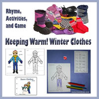 Winter Clothes Games and Activities for preschool and kindergarten