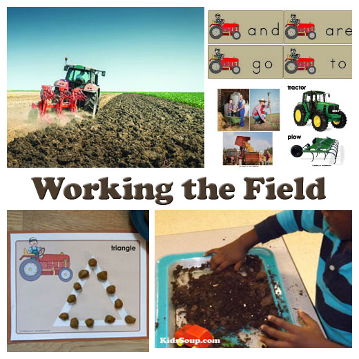 Farm and tractor preschool activities and games