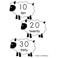 100 sheep activity and game for preschool and kindergarten