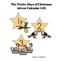 12 days of Christmas activities and printables for preschool
