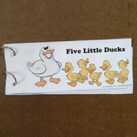 Five little ducks emergent reader booklet and activity for preschool