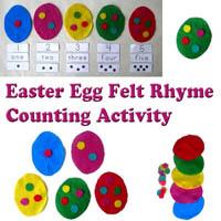 Preschool Easter Eggs Felt Story Rhyme and Activity