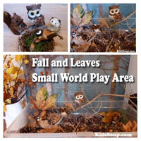 Owl and Fall Small World Pretend Play Area