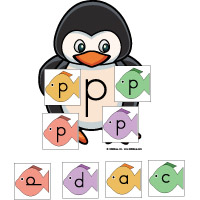 Same or different letter activities and game for preschool