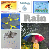 Preschool Kindergarten Rain and Weather Activities