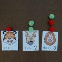 Apple On Top preschool kindergarten counting  activity