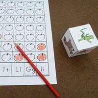 10 Apples Up On Top preschool kindergarten beginning sound activity