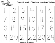 Calendar Number Writing Worksheet for preschool and kindergarten