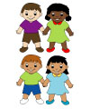 Martin Luther King Jr. friends preschool game and activity