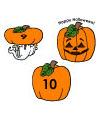 preschool and kindergarten pumpkin game  and printable