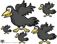 Crows activities and games for preschool and kindergarten