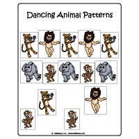 Jungle Animals preschool and kindergarten folder game
