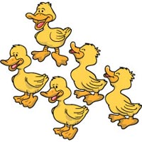 Five little ducks rhyme and activity for preschool and kindergarten