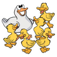Five little ducks felt story rhyme and activity for preschool