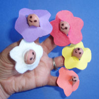 Five Little flowers rhyme and activity for preschool