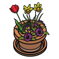 I'm a little flower pot rhyme and activities for preschool and kindergarten