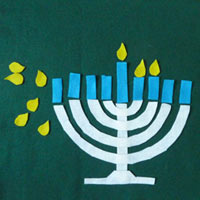 Menorah and Hanukkah felt activities