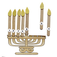 Menorah and Candles Preschool Numbers Activities