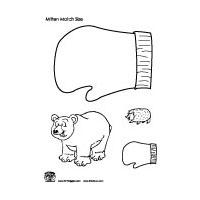 Mitten measurement and language activity preschool and kindergarten