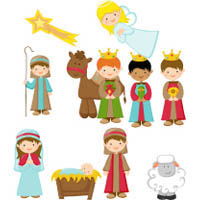 photo regarding Printable Nativity titled A Xmas Tale Craft, Publications, and Things to do KidsSoup