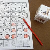 Apple On Top preschool kindergarten counting game