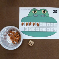 Alligator teeth counting and number sense activity