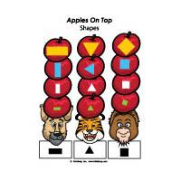 Apple On Top preschool kindergarten shapes activities