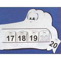 Alligator Teeth Number Line Activity for preschool