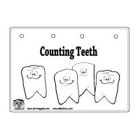 Counting Teeth Booklet and Number Sense Activity for kindergarten