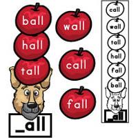 10 Apples Up On Top preschool kindergarten word family activity