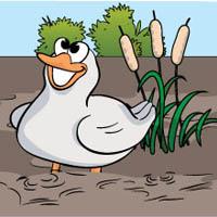 One Duck Stuck preschool and kindergarten circle time game