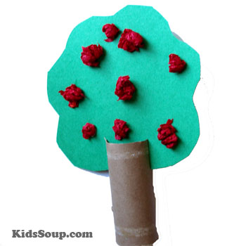 apple tree craft and fine motor skill activity for preschool