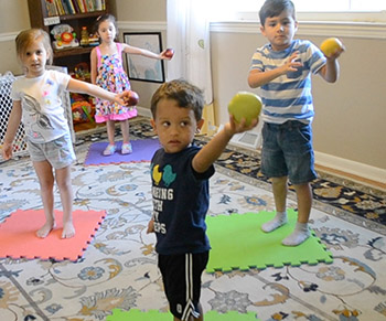 preschool apple movement activity